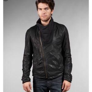 Helmut Lang Eclipse Leather combo jacket XL EUC